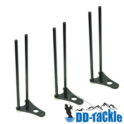 3 x Alu Snag Bar Ear Rod Pod Bissanzeiger Rutenhalter Bank Stick Rutensicherung