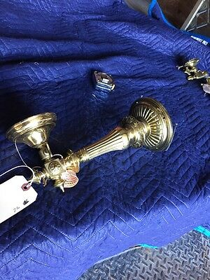 Lz3 Vintage Heavy Cast Brass French Single Arm Sconce