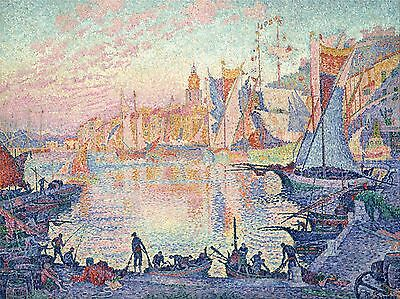 Paul Signac The Port Of Saint Tropez Old Art Painting Print 2327Oma