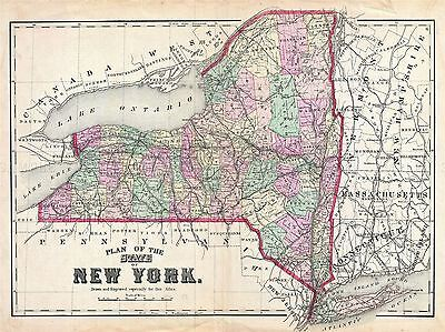 MAP ANTIQUE 1873 BEERS FLUSHING NEW YORK QUEENS LARGE REPRO POSTER PRINT PAM1914