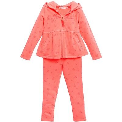 Billieblush Girls Full Zip Hoodie/Pants Set Tracksuit Pink Diamonds