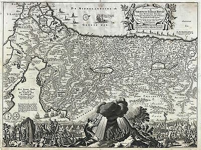Geography Map Illustrated Antique Visscher Stoopendaal Palestine Poster Bb4507A