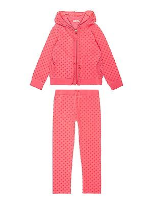 Billieblush Girls Full Zip Hoodie/Pants Set Tracksuit Dark Fuschia Diamonds