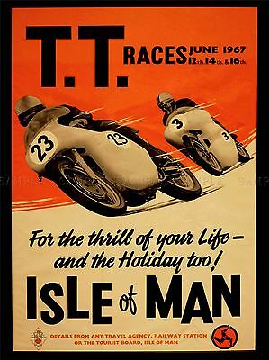 Advert Transport Tt Races Bikes Isle Of Man Tt Races 1967 Poster Print Lv277