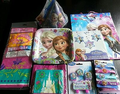 FROZEN THEME PARTY SUPPLY SET BIRTHDAY KIT for 8 Free Shipping