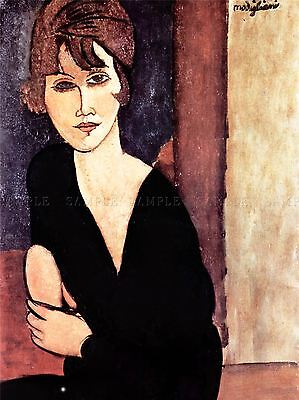 Amedeo Modigliani Portrait Madame Reynouard Old Art Painting Print 184Oma