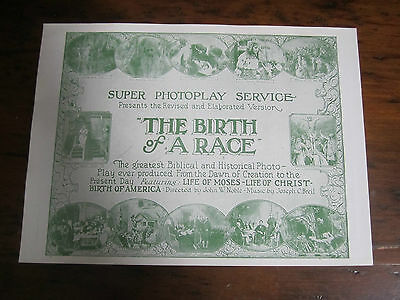THE BIRTH OF A RACE Vintage Movie Herald 1919