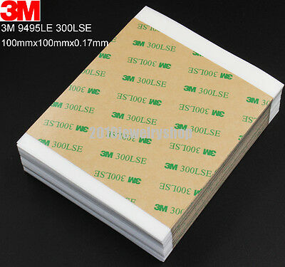 3M 9495LE 300LSE Clear Double Sided Tape For Phone LCD Repair 100mm x 100mm