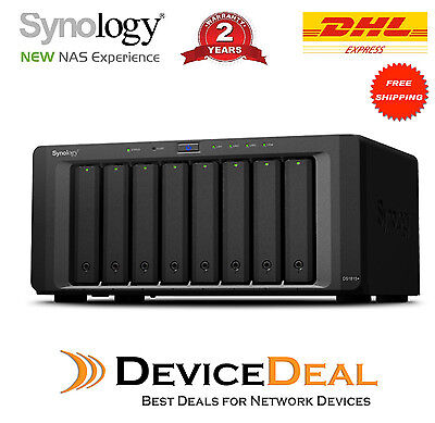 Synology Diskstation DS1815+ Series NAS - 8 Bays - Quad Core 2.4Ghz CPU - 2GB