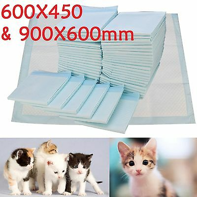 50/150 PCS 60x45CM LARGE PUPPY TRAINER TRAINING PADS TOILET PEE WEE MATS DOG CAT