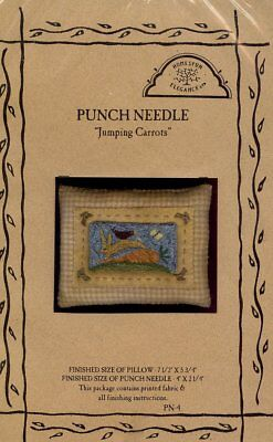 Jumping Carrots Bunny Homespun Elegance Punchneedle Pattern w/Fabric NEW