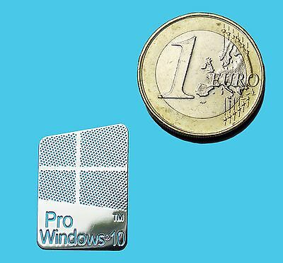 WINDOWS 10 PRO METALISSED CHROME EFFECT STICKER LOGO AUFKLEBER 16x23mm [431]