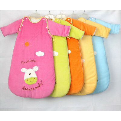 Baby Sleeping Bag Sleepsack Cozy Travel Removable Sleeves Unisex Warm 0-18M