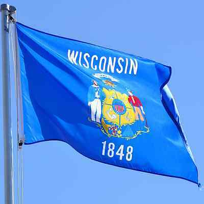 NEW 3x5 ft WISCONSIN STATE OF FLAG