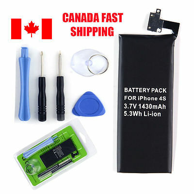 New Internal Replacement 3.7V Li-ion Battery for iPhone 4S with Tools CA STOCK