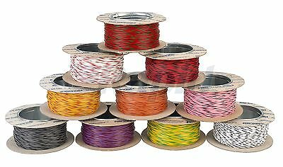 RAPID 7/0.2 Electrical Equipment Wire Cable (100m Reel) - Bi Colours