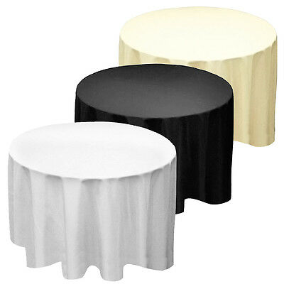 Round Circular Seamless Party Tablecloths Linen Table Cloth Engagement Birthday