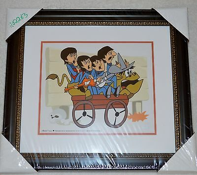The Beatles Bullride Picture Animation Limited Edition Sericel Coa Framed Nib