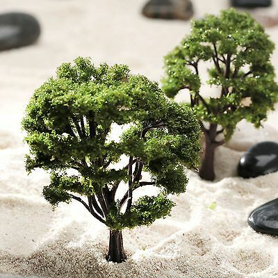 10pcs Model Tree Diorama Wargame Architecture Train Park Garden Scenery Layout