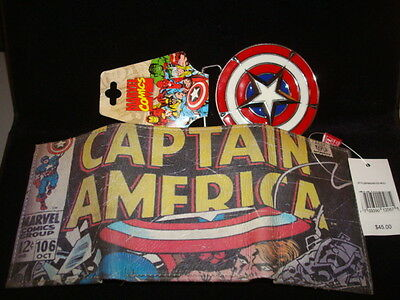 Marvel Captain America NEW Wallet and Belt Buckle