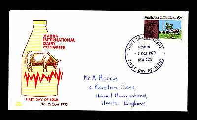 (Ref-5716) Australia 1970 18th Int. Dairy Congress  SG.474   First Day Cover