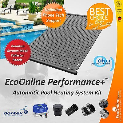 Premium Quality DIY 24 Panel Automatic Solar Pool Heating System Kit