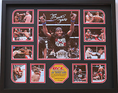 New Jon Bones Jones Signed Limited Edition Memorabilia Framed