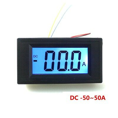 New DC -50-50A Digital Ammeter DC 0~+/-50A Lcd Meter AC / DC Power Supply Ampere