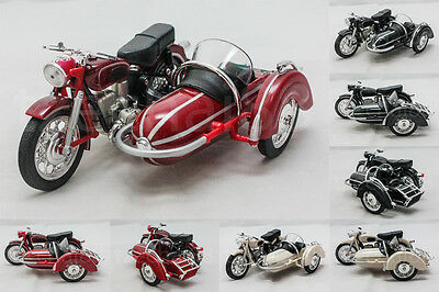 Home Toys 1:18 DIECAST Side Car M558 Motorcycle Red / White / Black Model New