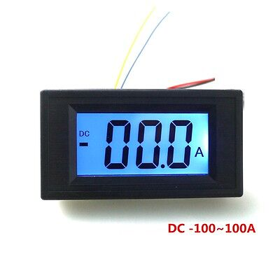 Semi-LCD Digital Ammeter DC 0~ +/-100A Test Positive and Negative Current Meter