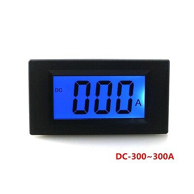 DC -300 to 300A digital DC 0~+/-300A lcd amp meter AC / DC power supply ampere