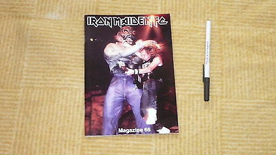 Iron Maiden Fan Club Magazine Number 66 Free Uk Post