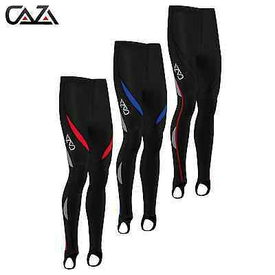 Mens Compression Tights Cycling Padded CoolMax Padded Leggings Long Pants Braces