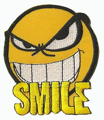 Ecusson patche thermocollant Emoticon Smile angry patch embleme brodé