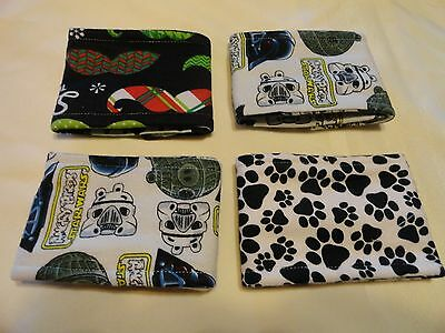 "4 Pk Male Dog Diaper Belly Bands 10-11"" up to 15-16""  waist  handmade"