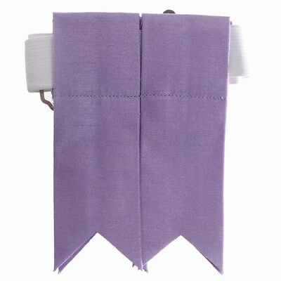 New Scottish Kilt Hose Garters Tartan Shantung Flashes with Garters Lilac