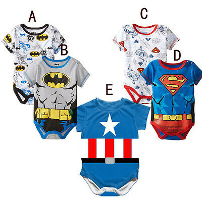 Baby Newborn Boy Short Sleeve Babygrow Romper Baby Clothes Playsuits Outfit Sets