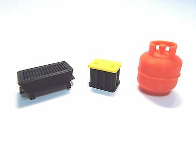 rc 1/10 crawler accessories grill, gas can,battery Axial scx10,Tamiya,RC4WD
