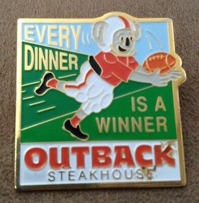 Every Dinner Is A Winner Outback Steakhouse hat lapel pin