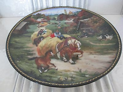 Village Life Of Russia Bringing Home The Harvest Collector Plate