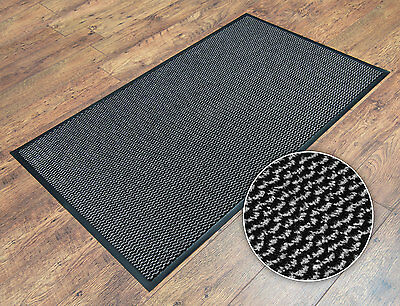 Grey Heavy Duty Non-Slip Dirt Stopper Kitchen Utility Room Office Door Mat