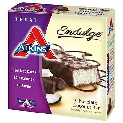 Atkins Endulge Chocolate Coconut - 5 Bars, Low Carb, No Added Sugar