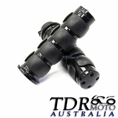 "New Motorcycle Hand Grips 1"" Black For Harley Sportster Dyna Softail Road 25MM"