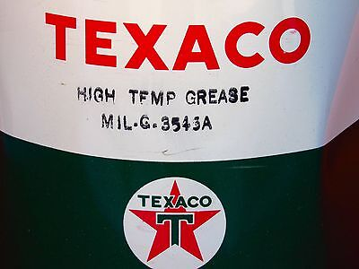 Old Aviation TEXACO High Temp - MIL-G-3545A Grease Can Tin Advertising Collector