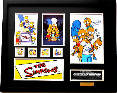 New The Simpsons Signed Limited Edition Memorabilia Framed