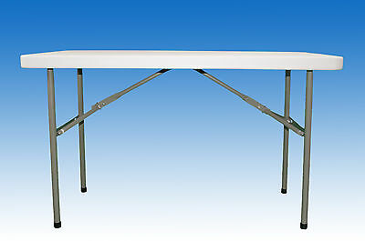 Extra Strength 4Ft Folding Table With Straight Top And Foldaway Legs - Ft5