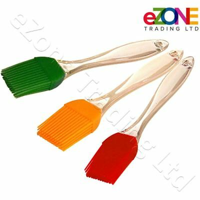 x3 Basting Brush Silicone Bristles Baking Bakeware Bread Cook Pastry Oil BBQ Egg