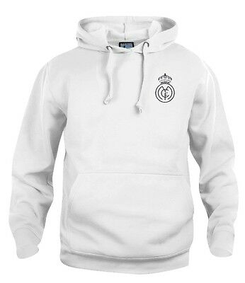 Real Madrid 1920s Football Hoodie New Sizes S-XXXL Embroidered Logo