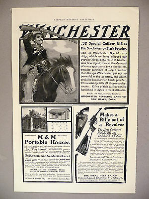 Winchester Rifle / Ideal Holster PRINT AD - 1903