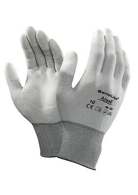 Ansell Sensilite 48-135 PU Fingertip Coated ESD Gloves Anti-static Electronics